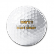 Happy Birthday Ornament Super Long Long-lasting Durability Men Women Kids Golf Ball Training Ball For Game Practise