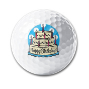 Happy Birthday Practise Super Long Long-lasting Durability Men Women Kids Golf Ball Training Ball For Playing Gifts