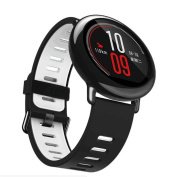 Glorrt 22mm Replacement Silicone Sports Strap Band For Xiaomi HUAMI AMAZFIT Smart Watch