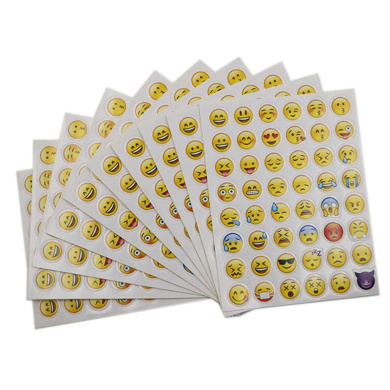 10 Sheets 48 Stickers 48 Different Emoji Smile Face Stickers For Notebook Fun Message