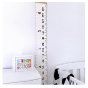 Yalasga Kids Baby Height Growth Chart Wood Frame Hanging Rulers Room Wall Decor