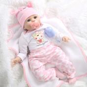 50-55CM SOFT Silicone Reborn Baby Dolls Handmade Cloth Body Reborn Babies Doll Toys