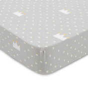 Cotton Bedding For Baby Crib Sheets - Toddler Bedding Fitted 100% Cotton With Modern Print