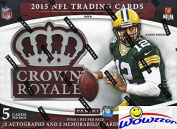 2015 Panini Crown Royale NFL Football Factory Sealed HOBBY Box with FOUR(4) AUTOGRAPH/MEMORABILIA Cards! Look for Rookies & Autographs of Marcus Mariota, Jameis Winston, Todd Gurley & Many More!