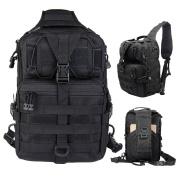 Tactical Gear Molle Multifunctional Sling Shoulder Backpack Daypack Bag for Camping Hiking