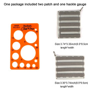 Aventik Fly Patches A and B, Dave Brandt's Tied and True Hackle Gauge Made in USA, Fly Tying