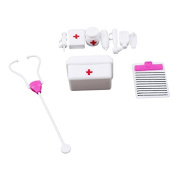 Rurah Simulation Doctor Toy Simulation Medicine Box Doctor Toys Set Kids Pretend Play Doctor Set Doctor Nurse Medical Kit Playset for Kids Child Care Box Doctor Tools Toys,small number