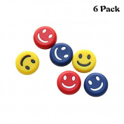 MiniXX Tennis Vibration Dampener-Pack of 6-Shock Absorber For Strings,Premium-Durable & Long-Lasting(Classic smiling face)