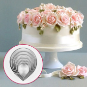 6pcs Kitchen Baking Tool Fondant Party Wedding Decor Water Droplet/Rose Petal Cookie Cake Cutters