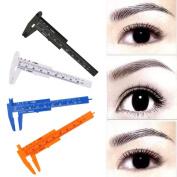 Alonea 80mm Microblading Reusable Makeup Measure Eyebrow Guide Ruler Permanent Tools
