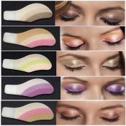 Alonea 6 Pair Instant Eye Shadow Temporary Makeup Eye Tattoo Stickers