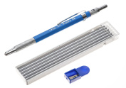Leda Art Supply Mechanical Pencil Set with 12-piece 5B lead refill and sharpener perfect for drawing