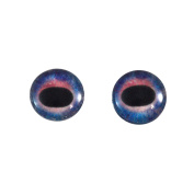 12mm Pair of Galaxy Unicorn Glass Eyes, for Jewellery Making, Arts Dolls, Sculptures, and More
