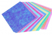 Hosaire Origami Paper Double Sided Colour - 5 Vivid Glitter Colours 50 Sheets - 15cm Square Easy Fold Paper for Arts and Crafts Projects