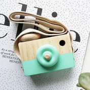Cute Wood Camera Toys Accessory,SMYTShop Baby Kid Children Safe and Natural Toys Bag for Birthday Christmas Gift