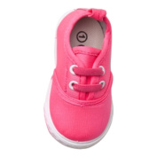 Baby Girls Boys Canvas Fashionable Casual Slip-On Neon Sneakers Tennis Shoes