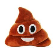 HaiHui Kids Gift Surprise Lovely Poo Shape Pillow Cushion Press Plush Emoji Toy Soft Doll