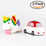 BeYumi Squishy Toy, Kawaii Horse & Mini Car Cartoon Squishy Slow Rising Toy Cream Scented Decompression Toys Decorations toys