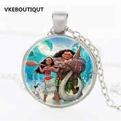 PRINCESS MOANA & MAUI THE DEMIGOD OCEAN PENDANT NECKLACE