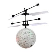 Flying Ball Toy,Flash Flying Ball Infrared Induction Colourful 7 Colour LED Disco RC Helicopter Kids Toy By Dacawin