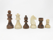 Da Vinci Staunton Wood Chess Pieces with 7.6cm King (32 Chessmen) & Storage Bag