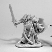 Reaper Miniatures 77438 Jurden, Half Orc Paladin, Bones Miniature