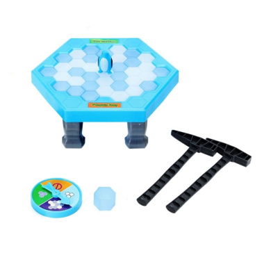 KateDy Puzzle Table Games Balance Ice Cubes Save Penguin Icebreaker Beating Interactive Desktop Party Games,Develop Child's Imagination and Creativity,Kids Family Reunion Game(38pcs ices)