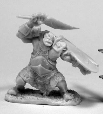 Reaper Miniatures 77432 Orc Slicer, Bones Miniature