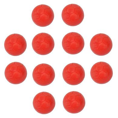 Dozen 35mm Plastic Table Soccer Red Engraved Foosball Ball