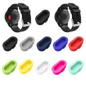 Gotd 10PCS Wristband Port Protector Anti-dust Plugs For Garmin Fenix 5/5X/5S