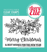 Avery Elle Clear Stamp Set 10cm x 7.6cm -Merry Flowers