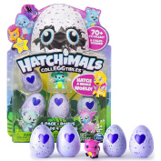 """Hatchimals """"Colleggtibles with Nest"""" Playset 8 Pack and Nest - Adorable Collectible Hatchimals that Come Inside Small, Speckled Eggs ("""
