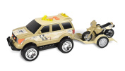 Maxx Action Rescue SUV with Trailer, Lights, Sounds and Friction-Rev Motor