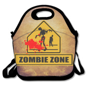 Zombie Lawn Halloween Gift Lunch Tote Insulated Reusable Picnic Lunch Bags Boxes For Men Women Adults Kids Toddler Nurses