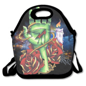 Zombie Hand Rose Lunch Tote Insulated Reusable Picnic Lunch Bags Boxes For Men Women Adults Kids Toddler Nurses