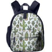 Cactus Cacti Fashion Pattern Printing Book Kid' Bag For Children School Kindergarten Backpacks 32cm tall,10cm deep,27cm wide
