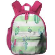 Cactus Cacti Little Durable Printing Shoulders Kid' Bag For Kids School Kindergarten Backpacks 32cm tall,10cm deep,27cm wide