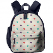 Colourful Heart Love Cool Lightweight Printing Book Kid' Bag For Boy School Kindergarten Backpacks 32cm tall,10cm deep,27cm wide
