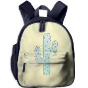 Cactus Cacti Cool Durable Printing Shoulders Kid' Bag For Child School Kindergarten Backpacks 32cm tall,10cm deep,27cm wide