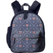 Colourful Heart Love Fashion Durable Printing Shoulders Kid' Bag For Children School Kindergarten Backpacks 32cm tall,10cm deep,27cm wide