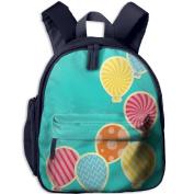 Colourful Balloons Fashion Lightweight Printing Shoulders Kid' Bag For Kids School Kindergarten Backpacks 32cm tall,10cm deep,27cm wide