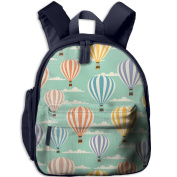 Hot Air Balloon And Clouds Little Pattern Printing Shoulders Kid' Bag For Child School Kindergarten Backpacks 32cm tall,10cm deep,27cm wide