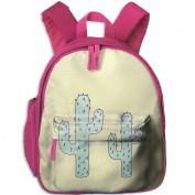 Cactus Cacti Small Lightweight Printing Book Kid' Bag For Kids School Kindergarten Backpacks 32cm tall,10cm deep,27cm wide