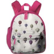 Hot Air Balloon Cool Lightweight Printing Book Kid' Bag For Boy School Kindergarten Backpacks 32cm tall,10cm deep,27cm wide