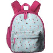 Red Cherry Fashion Lightweight Printing Book Kid' Bag For Child School Kindergarten Backpacks 32cm tall,10cm deep,27cm wide