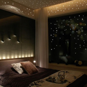 Snowfoller Round Wall Sticker, Glow In The Dark Star Wall Stickers 252 Dots And Moon Starry Sky Kids Room Decor
