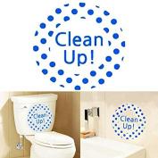 Creative DIY Waterproof Toilet Sticker Bathroom Wall Stickers