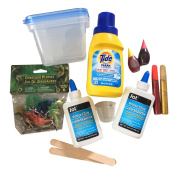 Make Your Own Slime Kit- Lava Slime With Dinosaurs- Slime Science Kit