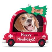 Hallmark Keepsake 2017 Happy Howlidays! Dog Picture Frame Dated Christmas Ornament