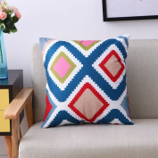 Modern Simple Geometric Style Cotton & Linen Decor Throw Pillow Covers